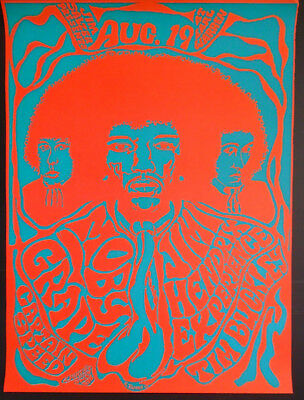 AOR#3.40-JIMI HENDRIX-MOBY GRAPE-/EARL WARREN SHOWGROUNDS-SANTA BARBARA -POSTER