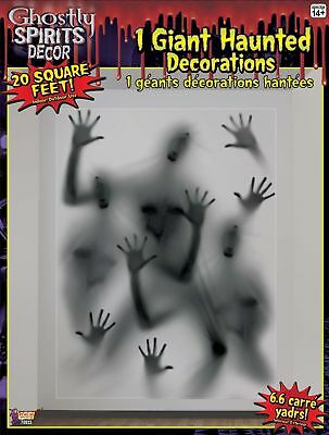 Giant Haunted House Ghost Hands Spirits Wall Decorations Halloween Prop 20 sq ft