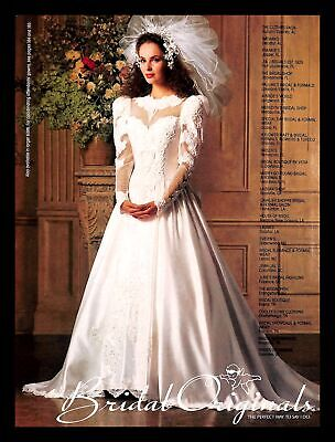1988 Bridal Originals Wedding Dress Vintage PRINT IMAGES Marriage Wendy Gell 80s
