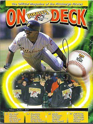 Pittsburgh Pirates TONY WOMACK autograph signed On Deck Program Vol 2 Num 3