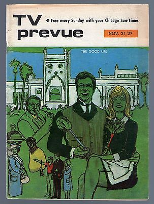 DONNA MILLS & LARRY HAGMAN~THE GOOD LIFE~CHICAGO SUN TIMES TV PREVUE GUIDE~1971