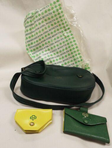 VINTAGE  GIRL SCOUT Pocketbook Wallet Coin Purse Lot Original Bag