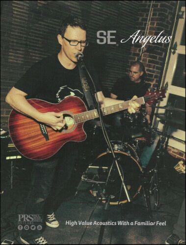 PRS SE Angelus Cutaway All-Mahogany Top acoustic/electric guitar 2017 ad print