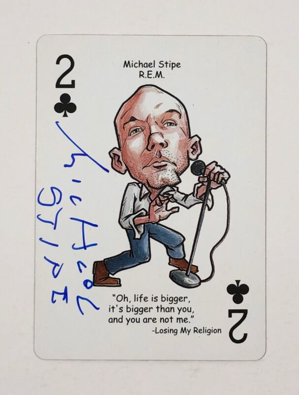 Michael Stipe REM R.E.M Signed Autographed Hero Of Rock Playing Card PROOF