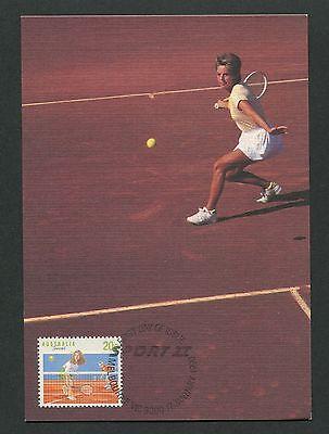 AUSTRALIA MK 1990 SPORT TENNIS MAXIMUMKARTE CARTE MAXIMUM CARD MC CM d7019