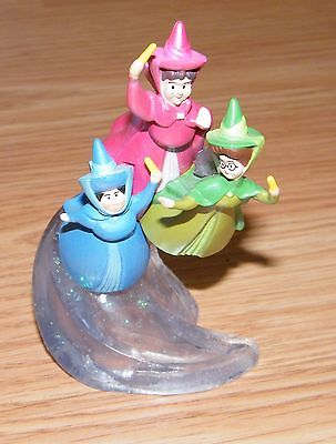 Disney Flora Fauna & Merryweather Fairy GodMothers From Sleeping Beauty Figurine