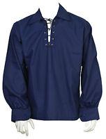 Scozzese Navy Giacobita Ghillie Kilt Camicia Pelle Corda Misure S,m,l,xl ,xxl -  - ebay.it