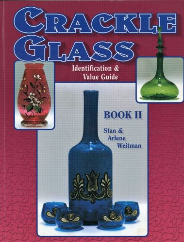 Vintage Crackle Glass Identification - Types Makers Dates / Scarce Book + Values