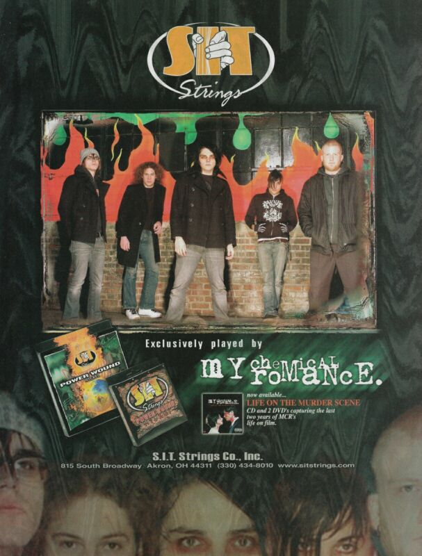My Chemical Romance S.I.T. Strings 2006 8x11 Promo Poster Ad