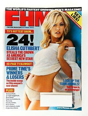 FHM (For Him Magazine) October 2002, Elisha Cuthbert, Victoria Pratt, TV shows