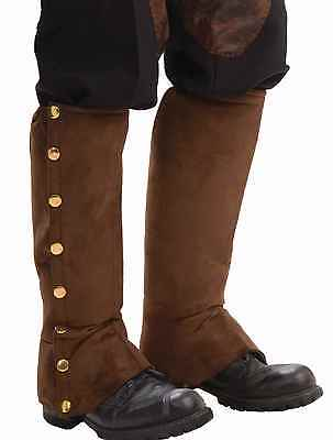 Steampunk Victorian Costume (Steampunk Victorian Brown Costume Spats Riding Pants Steam Punk - Fast Ship)