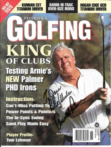 ARNOLD PALMER RARE SIGNED PETERSEN'S GOLFING MAGAZINE COVER
