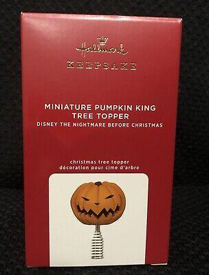 2020 Hallmark 'Miniature Pumpkin King Tree Topper' Nightmare Before Christmas