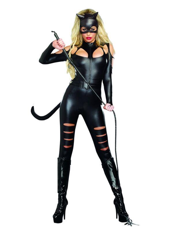 Dreamgirl Women`s Catwoman Costume Black Small