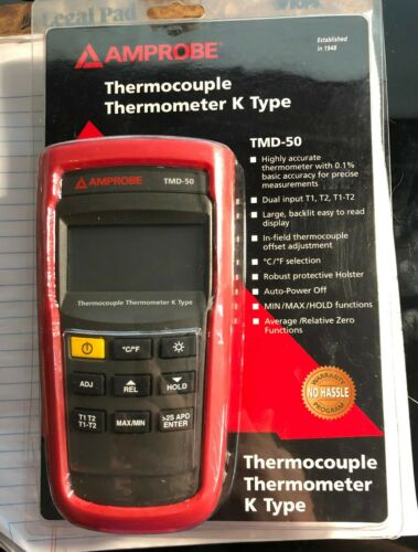 Amprobe TMD-50 K Type Dual Input Thermocouple Thermometer