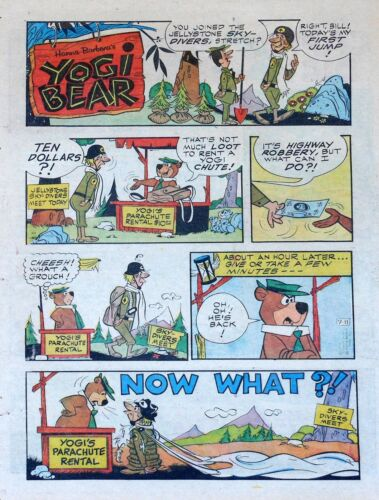 Yogi Bear - Hanna-Barbera TV - lot of 26 full tab Sunday comic pages - late 1976