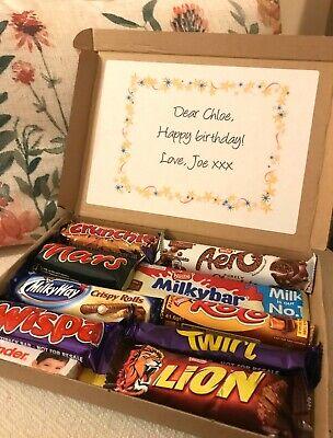 Personalised Chocolate Letterbox Hamper / Cadburys / Kinder /Nestle /Mars / Gift