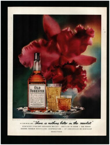 1952 Old Forester Bourbon Whisky Original Print Ad Brown-Forman Kentucky Whiskey