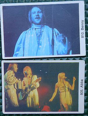 ABBA 2 Trading Cards Sweden 805 + 810 Schweden