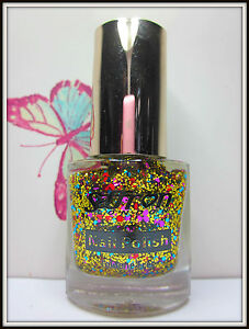 Saffron - Large Glitter Speck Nail Varnish Polish – 11ml – Select Your Colour