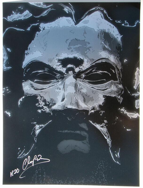 EXCALIBUR - MORDRED CHROME COAT PRINT ARTIST PROOF #16/20 SIGNED COA M. Champion