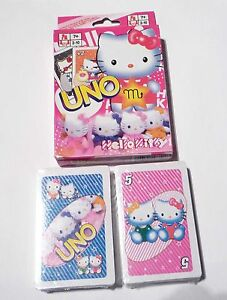 UNO-Playing-Cards-Game-HELLO-KITTY-Sealed-NEW-Pink-Pack-Friends-Kids