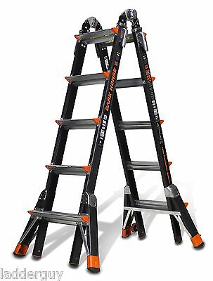 22 1a Fiberglass Little Giant Dark Horse Ladder Wplatform 15145