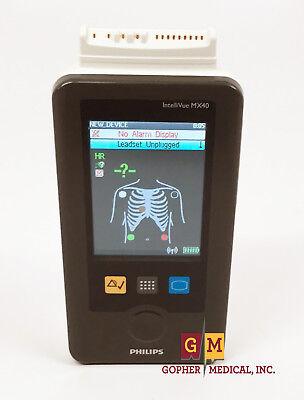 Philips Intellivue Mx40 Wearable Portable Patient Monitor Telepak Ecg Warranty