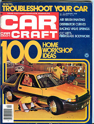 Car Craft Magazine January 1976 Home Workshop Ideas EX 072016jhe  - January Craft Ideas