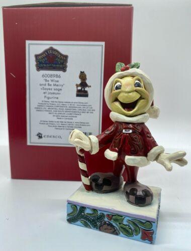 JIMINY CRICKET SANTA Be Wise & Be Merry Figure Disney Traditions Jim Shore NEW