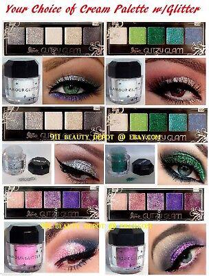 Glitter Cream Eyeshadow (15 NEW Eye shadow Color Makeup PRO GLITTER Eyeshadow PALETTE)