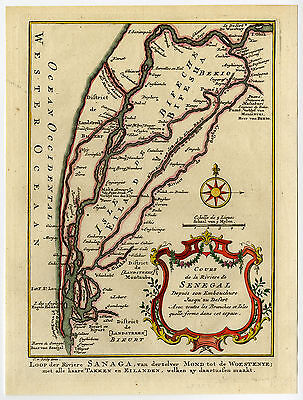 Antique Print-COURSE-RIVER-SENEGAL-MAURITANIA-Schley-Bellin-1758