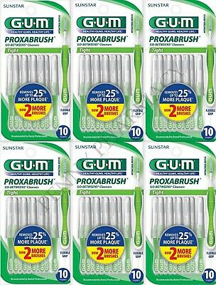 GUM Proxabrush Cleaners TIGHT 10 Each ( 6 pack )