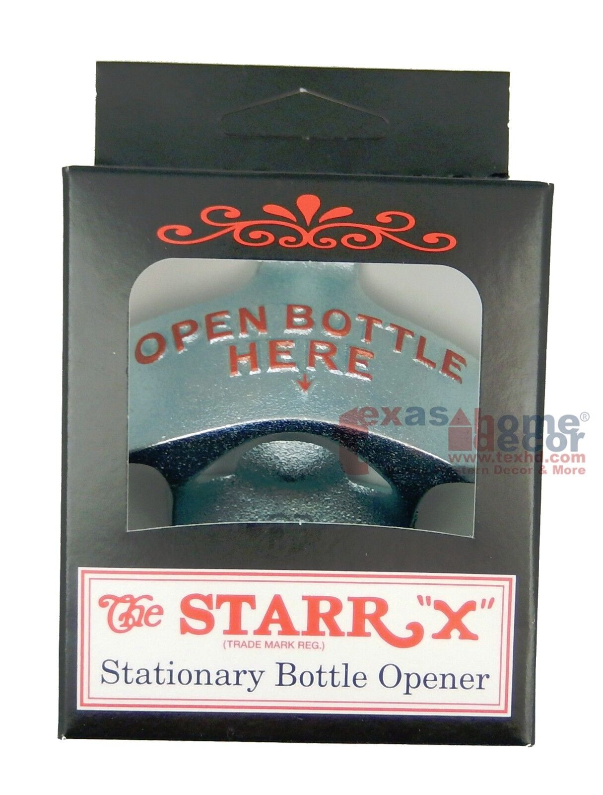 Wall Mounted OPEN BOTTLE HERE Beer Bottle Opener Starr X Sturdy Cast Iron Silver