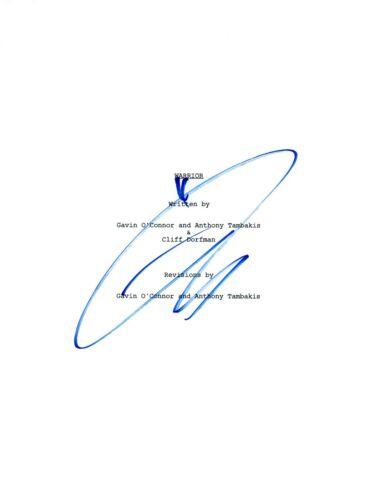 Tom Hardy Signed Autographed WARRIOR Full Movie Script COA AB