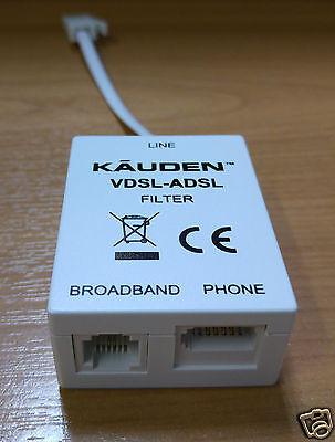 VDSL ADSL Micro Filter Microfilter Broadband Telephone Phone Splitter BT Socket