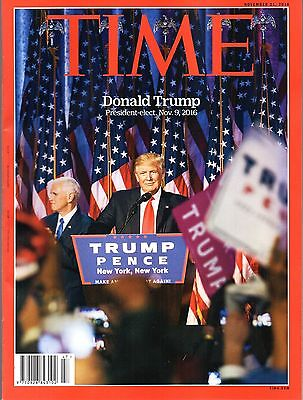 TIME Magazine November 21 2016 Donald Trump President-elect,November 9, 2016 NEW