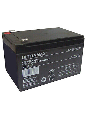 4X ULTRAMAX 12V 12AH Batería Para Bicicleta Eléctrica, Eléctrico Scooter & Auto