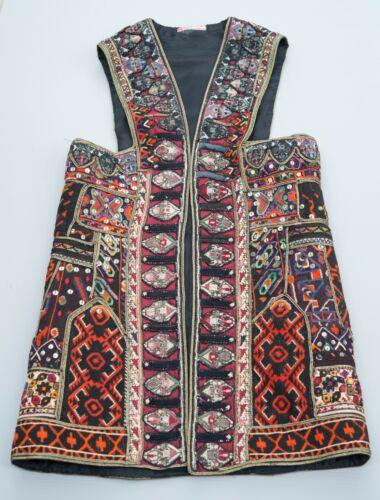 Antique Traditional 19th C Greek Folk Costume Sarakatsani Embroidery Wool