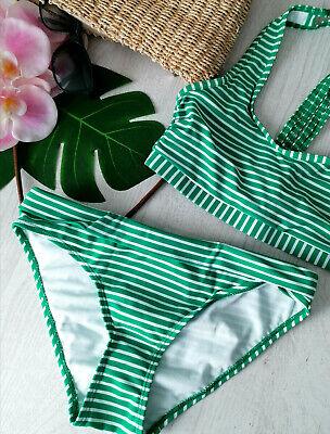 Bustier-Bikini von bpc collection * Gr. 36 * Fb. Grün/Weiß * Bademode Zweiteiler