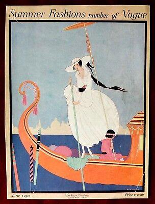 Vogue Magazine Original Cover Only ~ June 1, 1916 ~ Helen Dryden