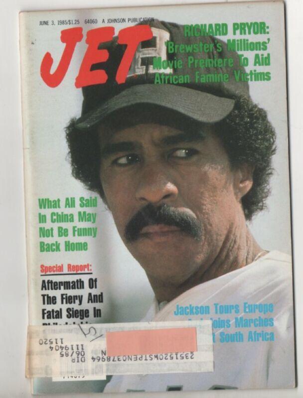 Jet MagazIne Richard Pryor Cover  June 3rd  1985