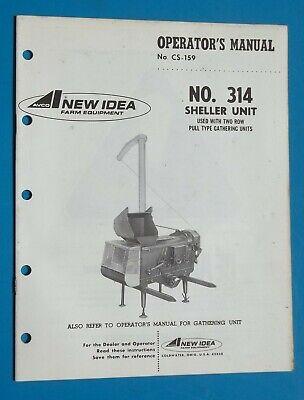 Vintage New Idea Farm Equipment 314 Sheller Unit Operators Manual 1972