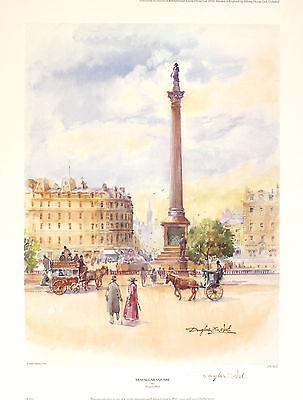 "DOUGLAS WEST ""Trafalgar Square"" london nelson SGD LTD! SIZE:47cm x 36cm NEW RARE"