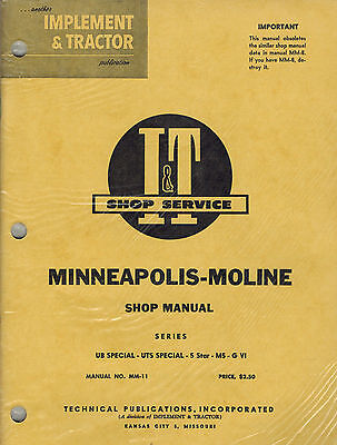 Minnmoline Ub Sp5starg Vi Tractor It Shop Manual Mm-11