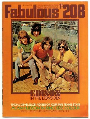 Fabulous 208 Magazine 27 June 1970 Edison Lighthouse Alan Hudson Paul McCartney