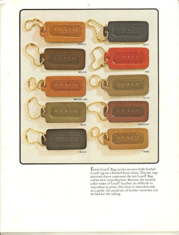 Vintage Coach Bag Catalogs-1981-2002- Scanned to 4GB Bracelet USB Flash Drive