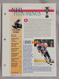 NHL-PLUS-MINUS-RECORD-BOOK-WAYNE-GRETZKY-SPORTS-HEROES-SHEET-CARD