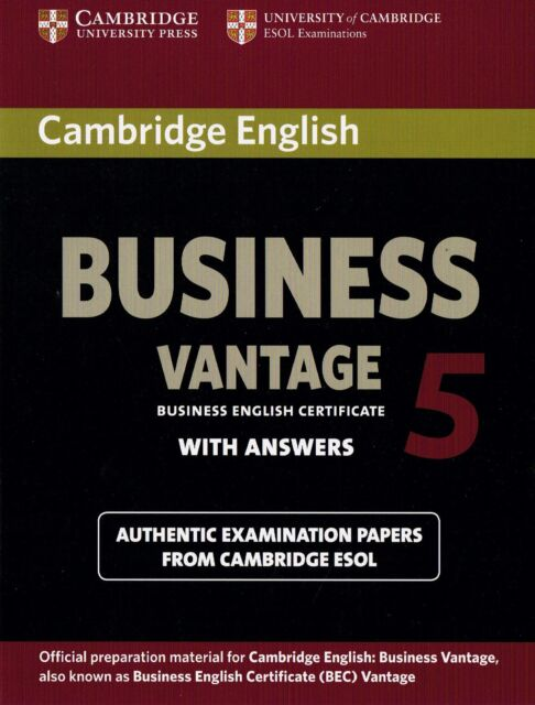 Cambridge English BUSINESS VANTAGE 5 (BEC) Student's Book with Answers @NEW@