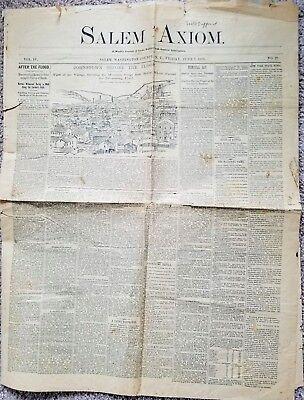 """""""Salem Axiom"""" – A Weekly Journal -  Friday June 7, 1889  - Salem, N.Y."""